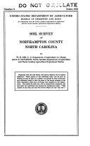 Soil survey of Northampton County  North Carolina