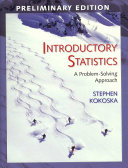 Introductory Statistics (Preliminary Edition)
