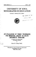Monographs in Education
