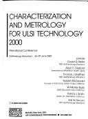 Characterization and metrology for ULSI technology, 2000