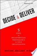 Decide Deliver