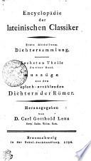 Auszüge aus den episch-erzählenden Dichtern der Römer zum Gebrauche auf Schulen