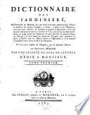 illustration Dictionnaire des jardiniers ...