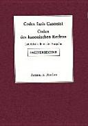 Codex des kanonischen Rechtes