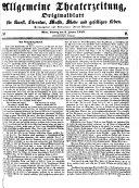 Allgemeine Theaterzeitung und Originalblatt für Kunst, Literatur, Musik, Mode und geselliges Leben