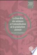 illustration du livre Le Bien-Être Des Animaux Et L'Intensification de la Production Animal