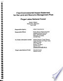 Finger Lakes National Forest  N F    Land and Resource Management Plan