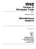 download ebook 1992 census of wholesale trade pdf epub
