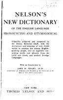 Nelson s New Dictionary of the English Language