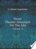 Neuer Theater-Almanach F?r Das Jahr