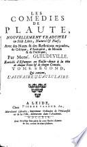 Les comédies de Plaute: L'Asinaire & L'Aululaire