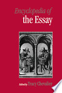 Encyclopedia of the Essay Essay As Nonfictional Prose Texts Of Between One