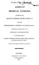 download ebook the american medical lexicon pdf epub