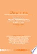 Daphnis  Zeitschrift f  r Mittlere Deutsche Literatur und Kultur der Fr  hen Neuzeit  1400 1750