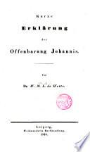 Kurze Erklärung der Offenbarung Johannis