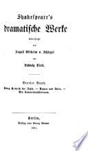 Bd. Ko nig Heinrich der Achte ; Romeo und Julia ; Ein Sommernachtstraum