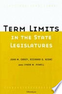 Term Limits in State Legislatures