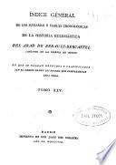 Indice general de los sumarios y tablas cronológicas de la Historia Eclesiástica