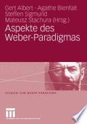 Aspekte des Weber-Paradigmas