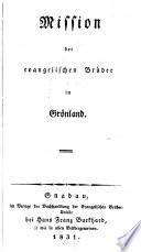 Missionen der evangelischen Brüder in Groenland