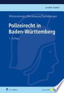 Würtenberger/Heckmann/Tanneberger, Polizeirecht in Baden-Wü.
