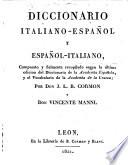Dizionario italiano spagnuolo e spagnuolo italiano  da G L B  Cormon e  V  Manni