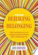 Book From Behaving to Belonging
