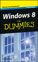 Windows 8 For Dummies  Pocket Edition