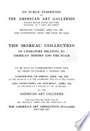 The illustrated catalogue of literature relating to American history and the stage