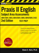 CliffsNotes Praxis II English Subject Area Assessments  0041  0043  0044 5044  0048  0049  5142