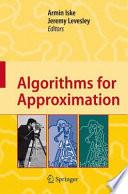 Algorithms for Approximation