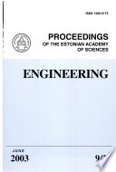 Proceedings Of The Estonian Academy Of Sciences Engineering book