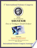 Souvenir Of 1st International Science Congress Isc 2011