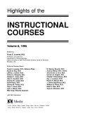 Highlights of the Instructional Courses