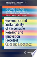 Governance And Sustainability Of Responsible Research And Innovation Processes