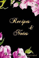 Blank Cookbook Recipes And Notes