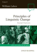 Principles of Linguistic Change, Social Factors