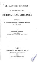 Studies in the France of Voltaire and Rousseau