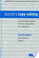 Butcher s Copy editing