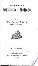 Sammlung historischer Aufsätze
