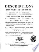 Descriptions des arts et m  tiers    577   1 bl   p    28  f  de pl