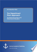 The Department Prism Approach  The Performance Prism and Performance Evaluation