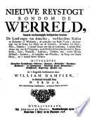 Nieuwe reystogt rondom de werreld ... vertaald door W. Sewel. Met naauwkeurige landkaarten, en kopere plaaten vercierd