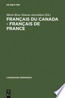 Fran  ais du Canada   Fran  ais de France