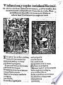 Vinllancicos Sic Y Coplas Curiosas Al Nacimi To Del Hijo De Dios Etc With Woodcuts