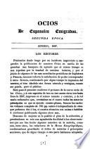 Ocios De Espanoles Emigrados. Periodico Mensual