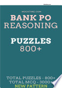 Bank Reasoning PUZZLES 800+ based on previous year papers