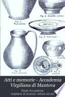 Atti e memorie   Accademia Virgiliana di Mantova