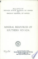 B002  Mineral resources of southern Nevada
