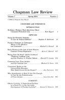 Chapman Law Review